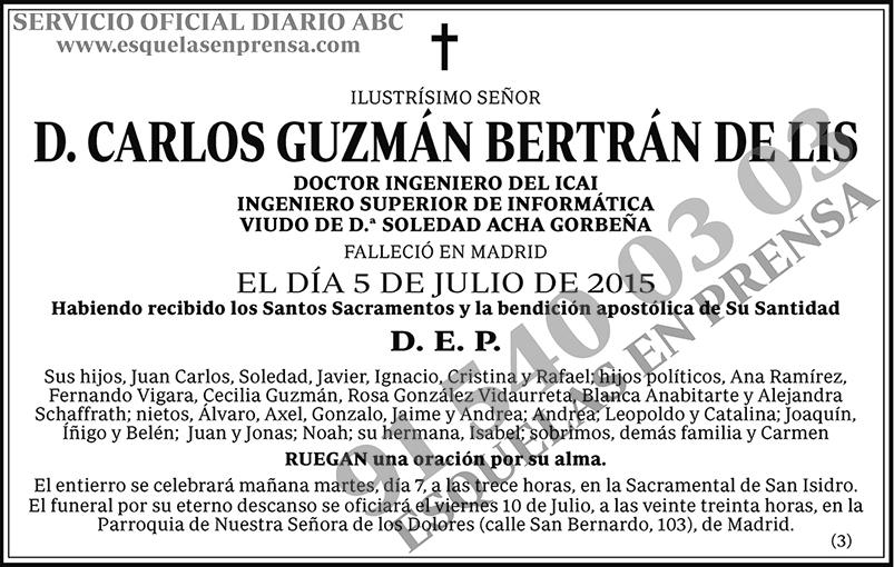Carlos Guzmán Bertrán de Lis